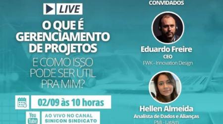 Sinicon realiza live sobre gerenciamento de projetos